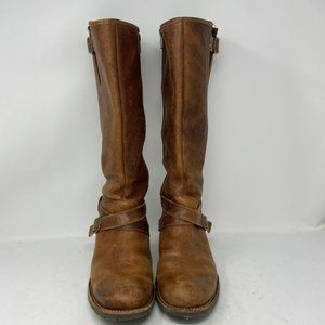 L.L. Bean Distressed Brown Leather Tall Boots - 9